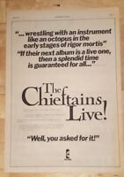 Cheiftans Live 1977 press advert Full page 28 x 38 cm poster