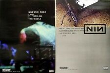 NINE INCH NAILS 2002 all that coulda been 2 side PROMO poster ~MINT condition~!!