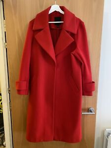 River Island Red Duster Jacket Coat Size 18 Used Great Condition