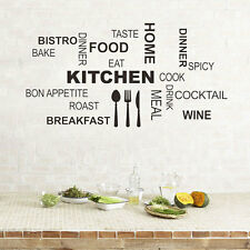Kitchen Rules Quote Wall Stickers Vinyl Art Mural Decal Removable Home Decor