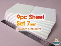 9 Pc XPS Hobby Foam Sheet Set 7mm (great for wargaming roads, terrain, D&D, 40k)