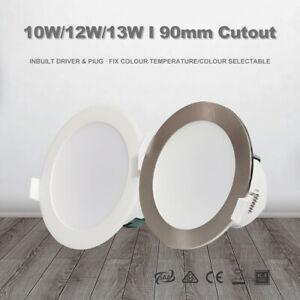 10W/12W/13W LED Downlight Kit CCT White/Satin Chrome Dim/Non dim 90mm Cutout RCM
