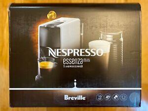 Nespresso by Breville Essenza Mini Espresso Machine w/ Aeroccino3, Intense Grey