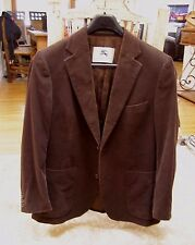Burberry Mens Brown Cotton Corduroy Blazer Sport Jacket US Size 40,Large /54 EU
