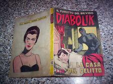 DIABOLIK PRIMA 1° SERIE ORIGINALE N.12 DEL 1963 INGOGLIA BUONO TIPO KRIMINAL
