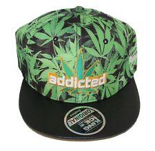 Cannabis Leaf Weed Marijuana Rasta Snapback Baseball Cap Hat One Size 3 Colours