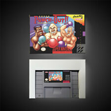 Super Punch-Out! USA NTSC Version With Retail Box RPG Game Battery Save Nintendo