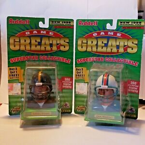 Lot of 2  Riddell NFL QBs Collectibles 1998 Game Greats Marino, Kordell Stewart