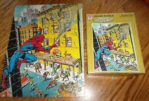 "Vintage 1980 SPIDER-MAN 100 Large Piece Jigsaw Puzzle 14"" X 18"" Complete"