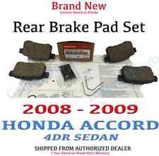 2008-2009 Honda ACCORD 4DR SEDAN Genuine Factory OEM Rear Brake Pads