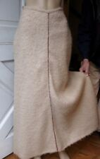 VTG1970s ADRI for CLOTHES CIRCUIT Mohair Wool MAXI SKIRT NATURAL BEIGE Xtra-Sm 6