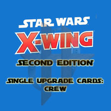 X-Wing 2.0 Miniatures Game Second Edition - Single Upgrade Cards CREW cards