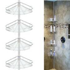 4 Tier Shower Corner Pole Caddy Bathroom Wall Shelf Storage Rack Holder