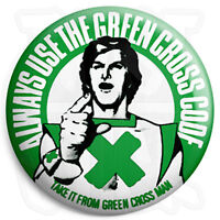 The Green Cross Code - 25mm Button Pin Badge - Retro Kids Road Safety TV Advert