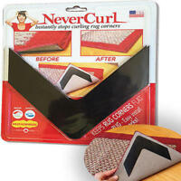 4-Piece Never Curl Rug Gripper Corners No Slip Indoor Outdoor NEVERCURL