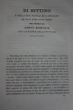 DI BITTINO E DELLA SUA TAVOLA DI S.GIULIANO DI LUIGI TONINI BOLOGNA 1866