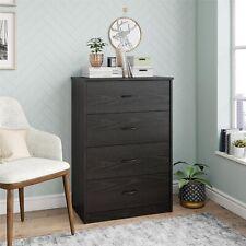 Mainstays Classic 4 Drawer Dresser Black Oak Finish