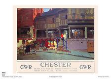 Chester Cheshire vacaciones viajes de ferrocarril publicidad de estilo vintage y retro arte cartel