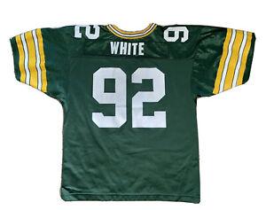 REGGIE WHITE GREEN BAY PACKERS #92 Jersey Youth XL 18 20 Vtg NFL Football Wilson