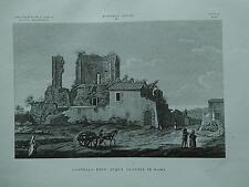 1845 Zuccagni-Orlandini Veduta del Castello dell'Acqua Claudia in Roma