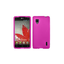 Mobi Products Silicon Skin Case (Pink) + Free Screen Protector for LG Optimus G
