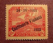 Fiume Scott# 154 Overprint 1921 MH C29
