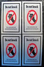 Do Not Knock sign Plaque  Silver ***Free Post