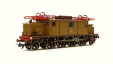 """Italy very classic E.432 electric locomotive """"trifase/brown livery""""  ROCO DC 62384 Typ E.432 FS with Series 50000 car in castano (1 x E-lok & 2 x passenger car) NEW"""