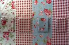 4 Cath Kidston Fabric 25 X 50cms Blue Rose & Check White Rose & Check Sewing