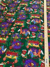 Beautiful Christmas Fabric - 100% Cotton on green background