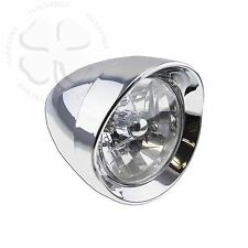 Chrome Classic Motorcycle Head Light Lamp Assembly Chopper High & Low Beams