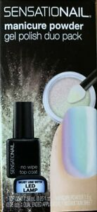 SENSATIONAIL Manicure Powder Gel Polish Duo Pack in Iridescent Unicorn Top Coat