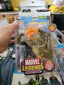 Marvel Legends Series III Ghost Rider Action Figure with Comic Book 2002 Toy Biz