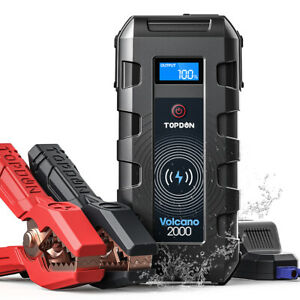 Topdon 20800mAh Car Jump Starter Pack Battery Booster Charger Power Bank 2000Amp