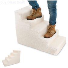 Pet Supplies Foam Pet Stairs Steps White 5 Step Dog Cat Animal Ramp Easy Climb