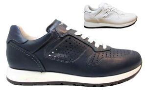 Nero Giardini Junior P833050M Bianco e Blu Sneakers Bambino Casual