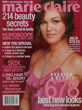 JULIA STILES January 2004 MARIE CLAIRE Magazine