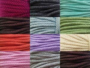 (0,90€/m) 3 Meter Baumwollschnur Baumwollkordel - 8 mm - viele Farben