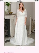 2019 Plus Size White/Ivory Bridal Gown Lace Wedding Dress:14/16/18/20/22/24/26++