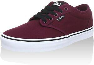 Vans Low-Top, Men's Red (Oxblood/White) SZ 10.5 US VN000TUY8J3
