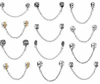 Popular European Bead Safety Chain Charms For 925 Silver Snake Bracelets Chain