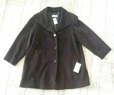 32aadce3ba5 NWT Cinzia Rocca baby llama wool Brown Swing coat alpaca button 14 Italy   920