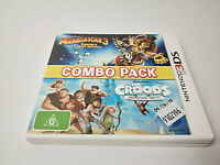 Nintendo 3DS Madagascar 3 & The Croods Combo Pack - AUS PAL Free Postage