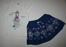 New Gymboree Royal Elephant Tee Top & Blue Skirt Set Size 4 Desert Dreams Line