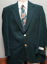 NWT Wimbledon Collection Green Masters Style Blazer Jacket Sport Coat 38 S