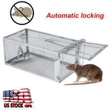 Automatic Lock Rat Mouse Trap Cage for Small Live Rodent Control Mice