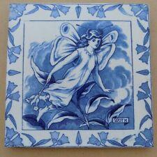 Antique WEDGWOOD Midsummer Night's Dream Large Tile - Moth