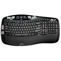 Logitech K350 Wireless Wave Ergonomic Keyboard w/Unifying Receiver