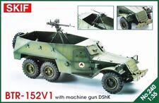 BTR 152 V1 WITH DSHK MACHINE GUN - SOVIET APC (AFGHAN MKGS) 1/35 SKIF RARE!