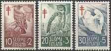 Timbres Oiseaux Finlande 441/3 * lot 28634